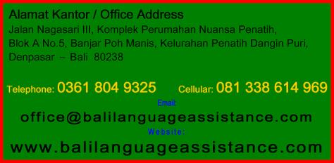 Penerjemah tersumpah di denpasar Penerjemah tersumpah di Bali Sworn Translation in Bali Certified Translator in Bali